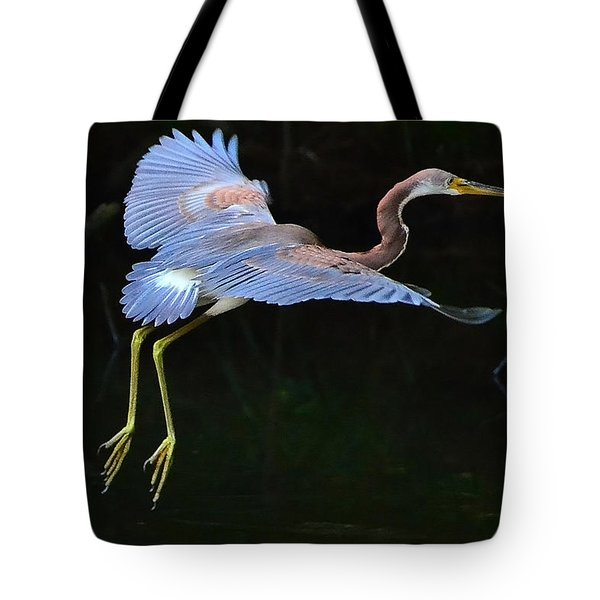 Tote Bag featuring the photograph Tricolored Heron by Charlotte Schafer