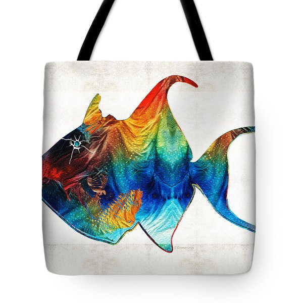 Trigger Happy Fish Art By Sharon Cummings Tote Bag