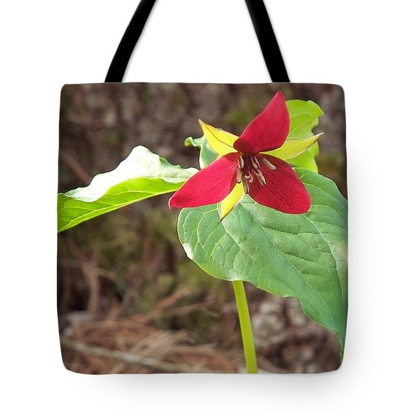 Tote Bag featuring the photograph Trillium by Joy Nichols