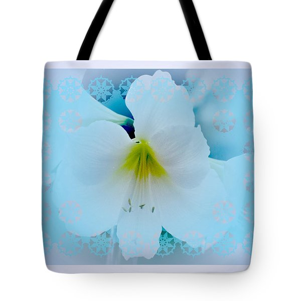 White Lily Tote Bag by Larry Capra