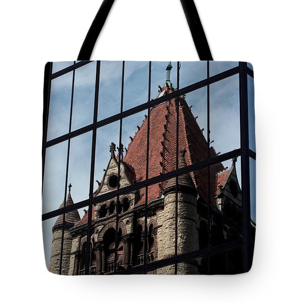 Trinity Chruch Reflected Tote Bag by Kenny Glotfelty