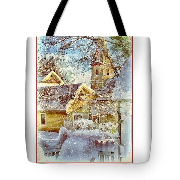 Trinity Episcopal Church In The Snow - Shepherdstown  Tote Bag