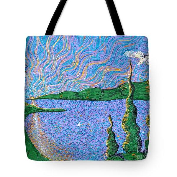 Trinity Lake Series Tote Bag by Stefan Duncan