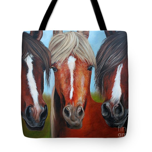 Tote Bag featuring the painting Trio by Debbie Hart