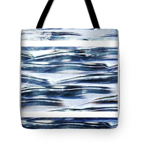 Tote Bag featuring the photograph Trio In Blue by Wendy Wilton