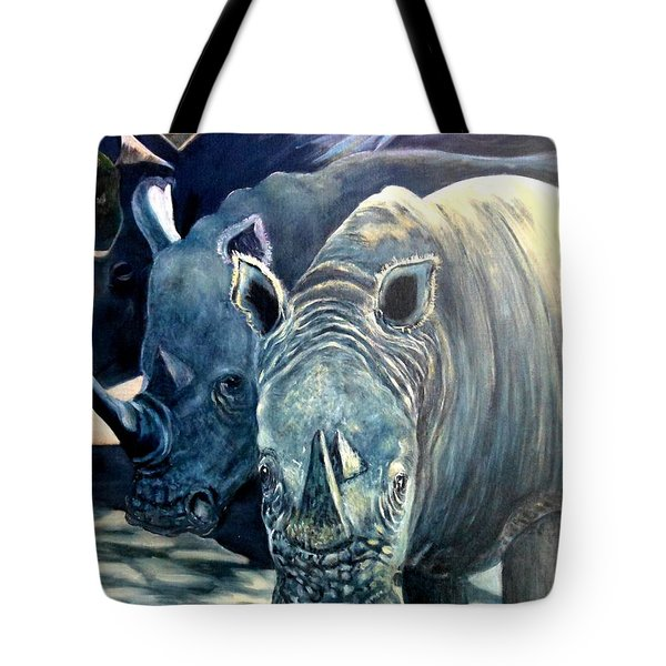 Trio Of Rhino Tote Bag by Caroline Street