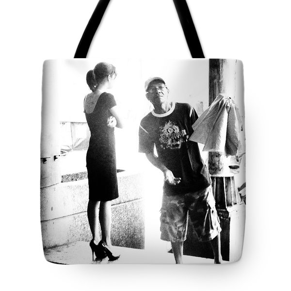 Trio Of Thinkers Tote Bag by Tina M Wenger