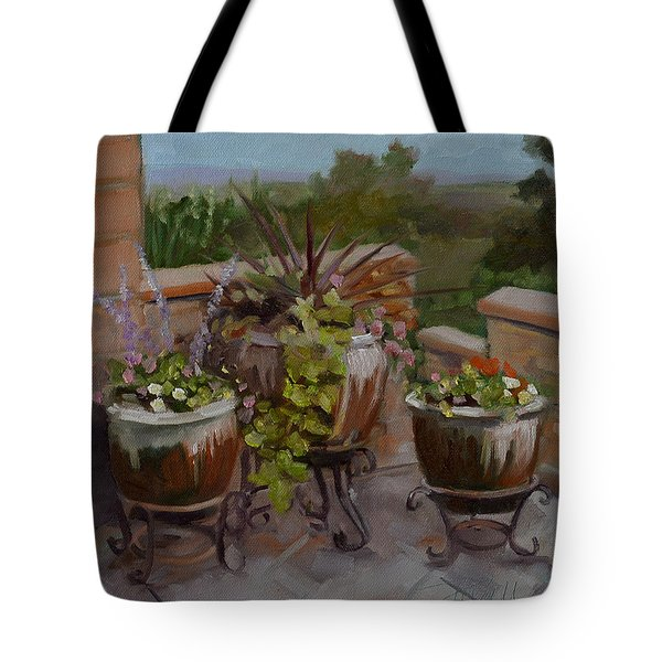 Tote Bag featuring the painting Trio by Pattie Wall