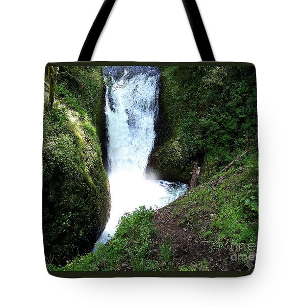 Tote Bag featuring the photograph Triple Falls On Oneonta Creek by Charles Robinson