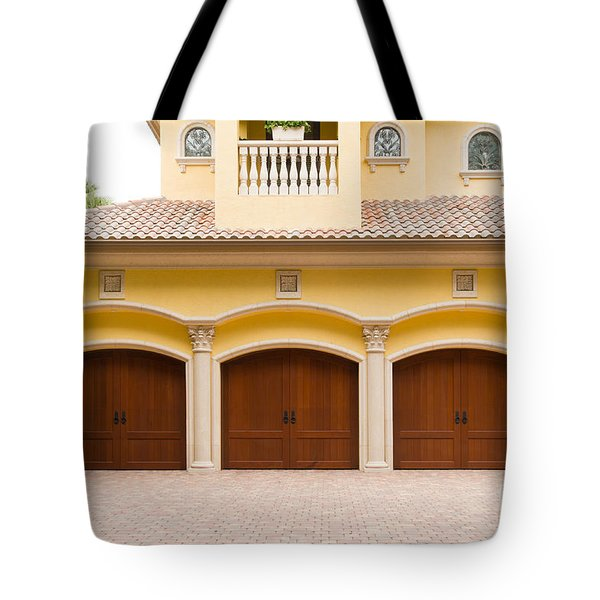 Triple Garage Doors Tote Bag