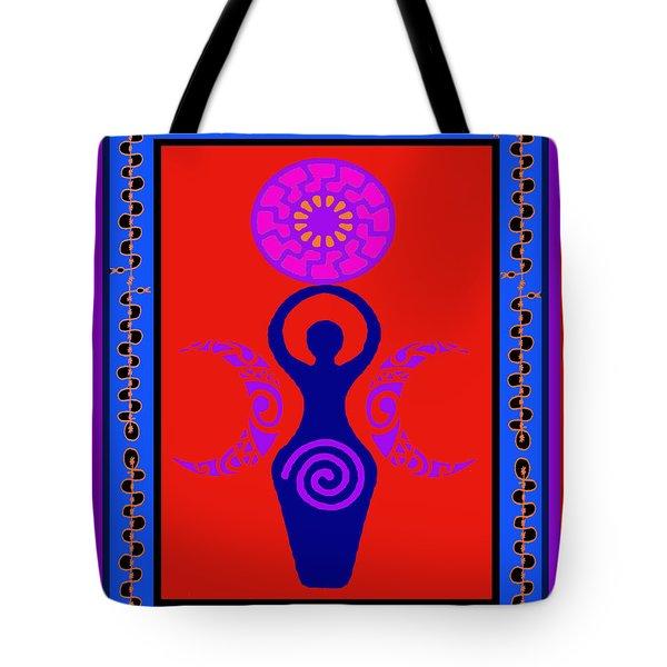 Tote Bag featuring the digital art Triple Goddess by Vagabond Folk Art - Virginia Vivier