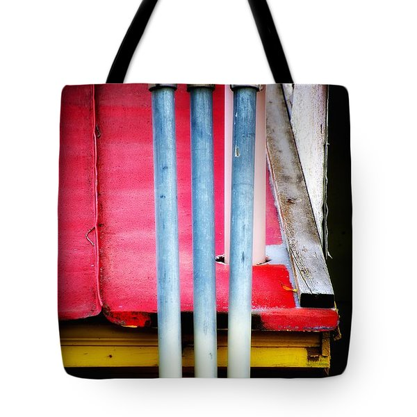 Triple Play Tote Bag by Newel Hunter