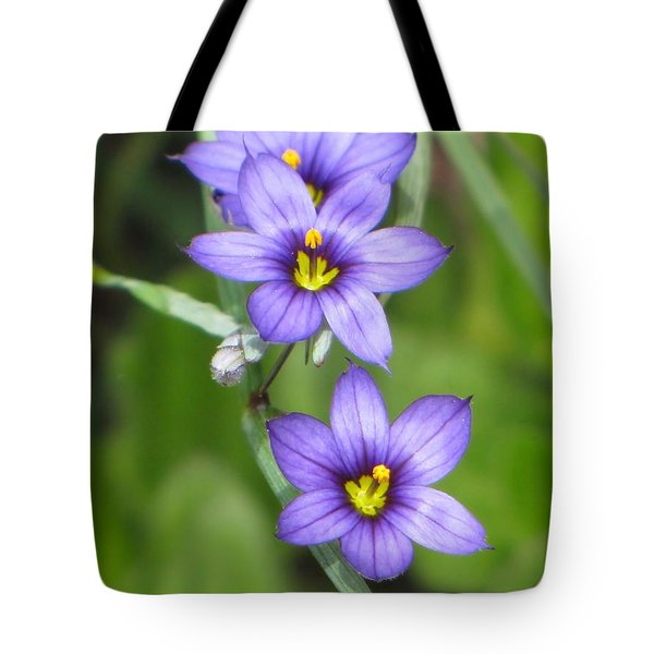 Triple Purple Tote Bag