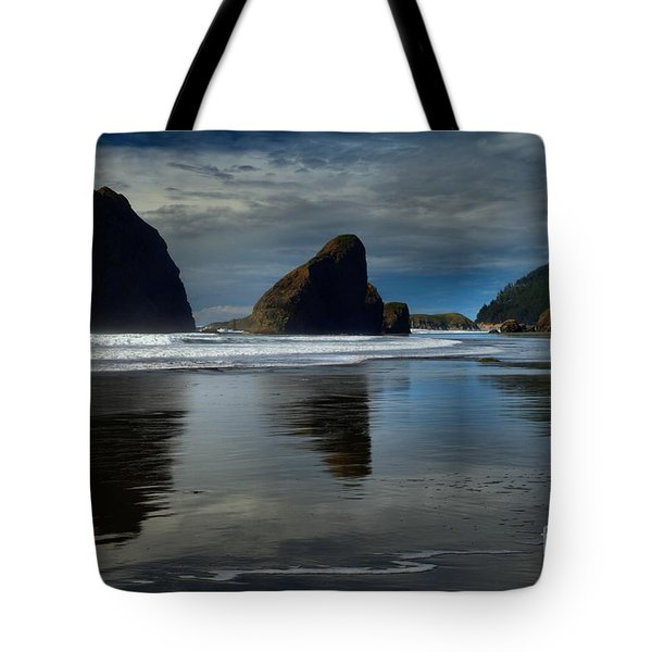 Triple Reflections Tote Bag by Adam Jewell