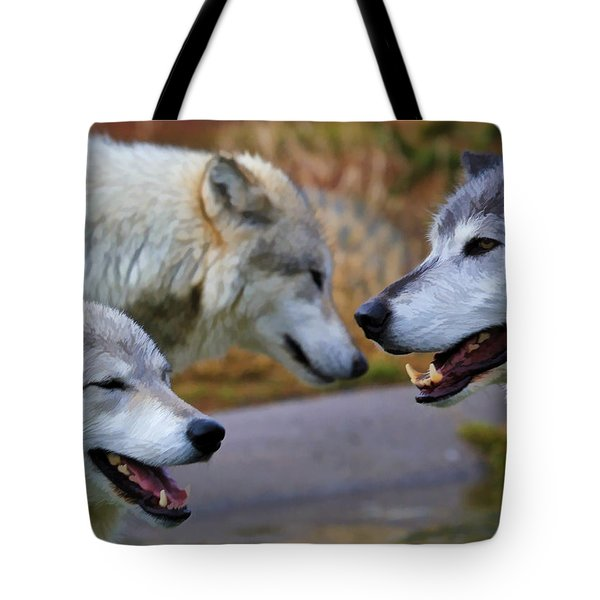 Triple Take Painted Tote Bag