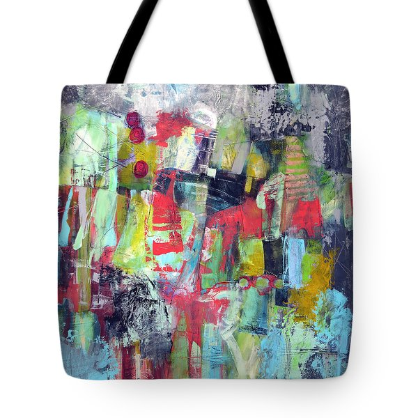 Tote Bag featuring the painting Trippy by Katie Black