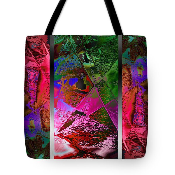 Triptych Chic Tote Bag by Paula Ayers