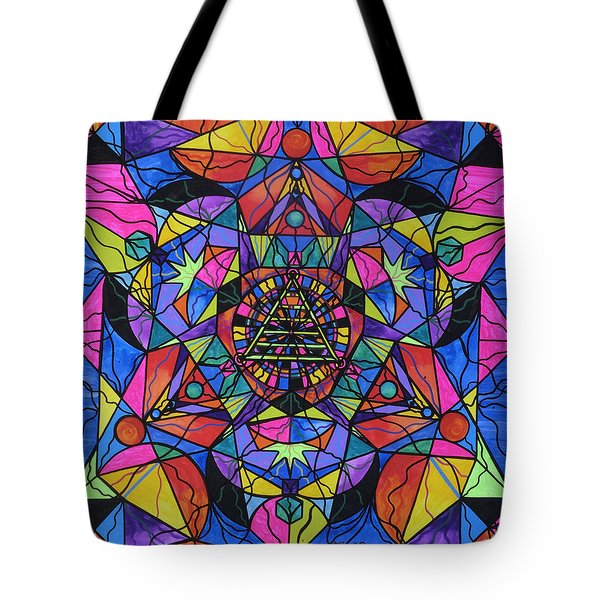 Triune Transformation Tote Bag by Teal Eye  Print Store