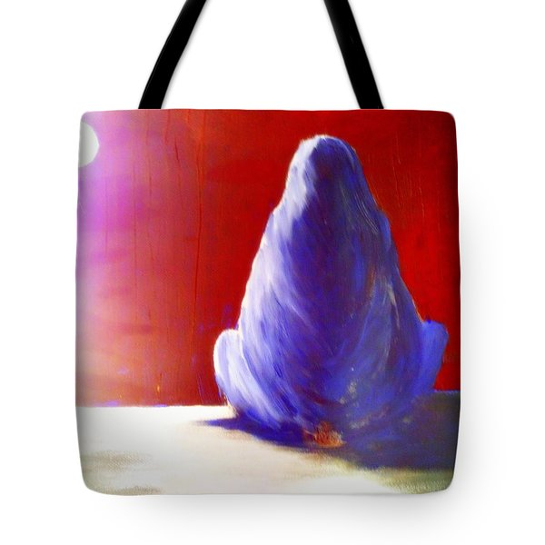 I'm Always Sitting Alone Under The Full Moon  Tote Bag