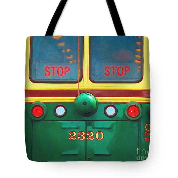 Trolley Car - Digital Art Tote Bag