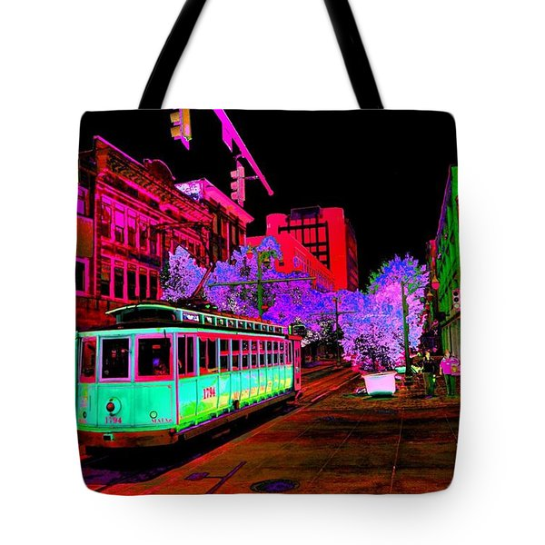Trolley Night Digital  Tote Bag