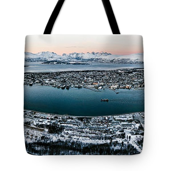 Tromso From The Mountains Tote Bag by Dave Bowman