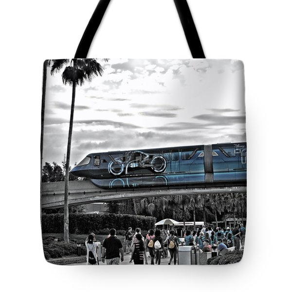 Tron Monorail Wdw In Sc Tote Bag by Thomas Woolworth