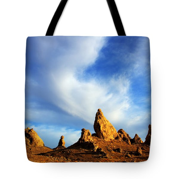 Trona Pinnacles California Tote Bag by Bob Christopher