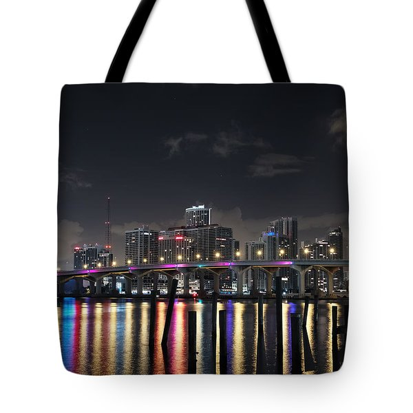 Trooper Bridge Miami Tote Bag by Gary Dean Mercer Clark