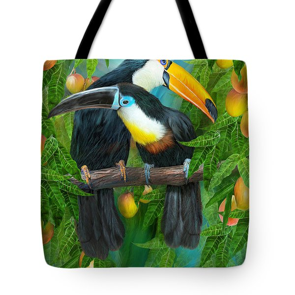 Tropic Spirits - Toucans Tote Bag by Carol Cavalaris