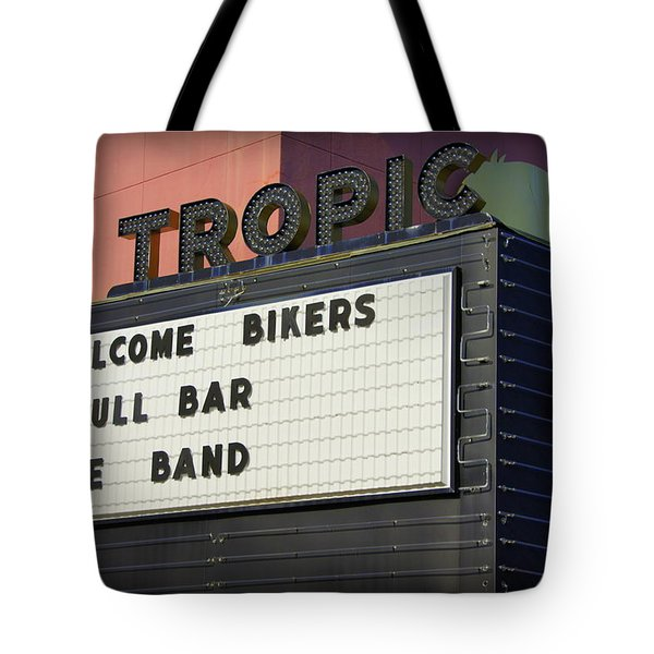 Tropic Theatre Tote Bag by Laurie Perry