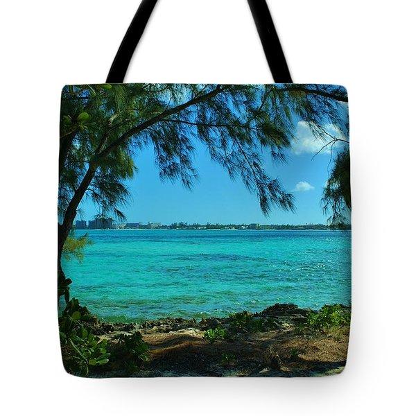 Tropical Aqua Blue Waters  Tote Bag