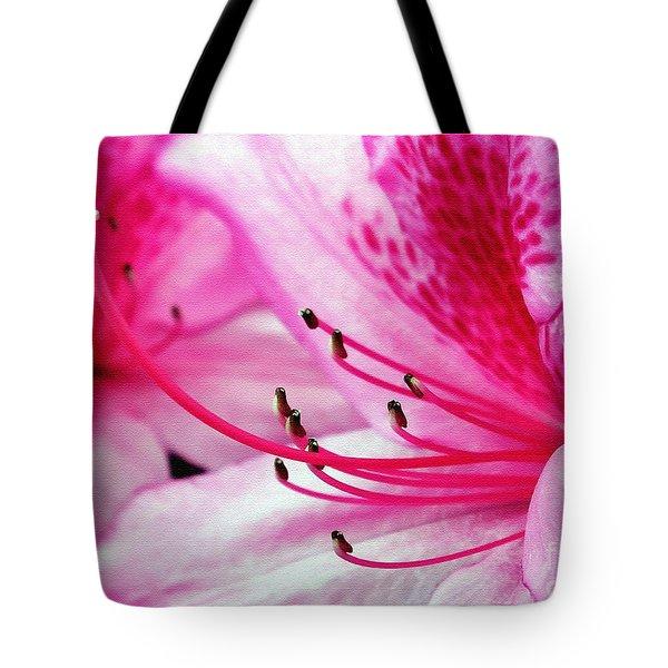 Tropical Azalea Tote Bag by Kaye Menner