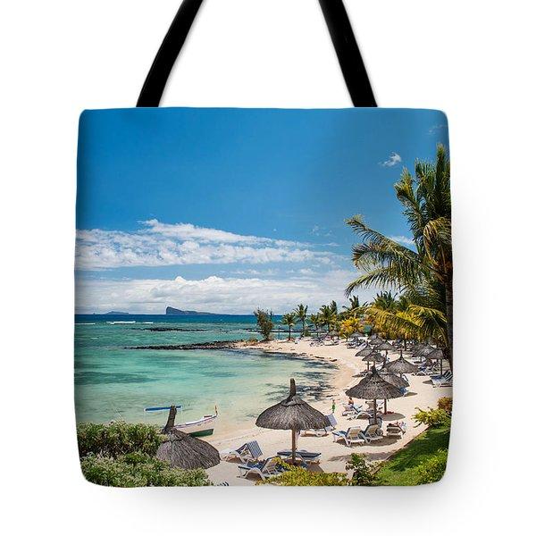 Tropical Beach II. Mauritius Tote Bag by Jenny Rainbow