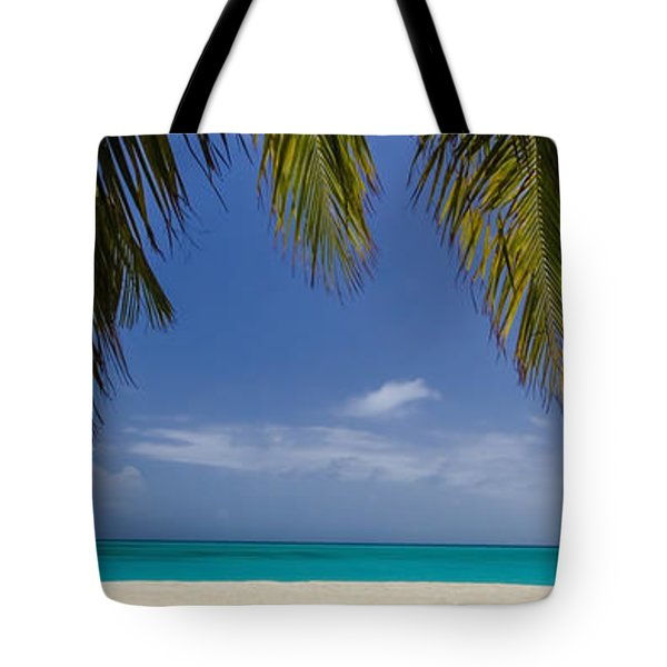 Tropical Beach Scene In 3 To1 Aspect Ratio Tote Bag