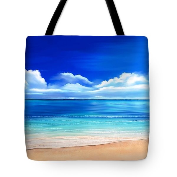 Tropical Blue Tote Bag by Anthony Fishburne
