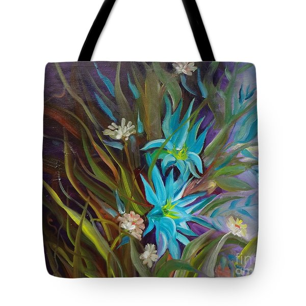 Tropical Blue Tote Bag by Jenny Lee