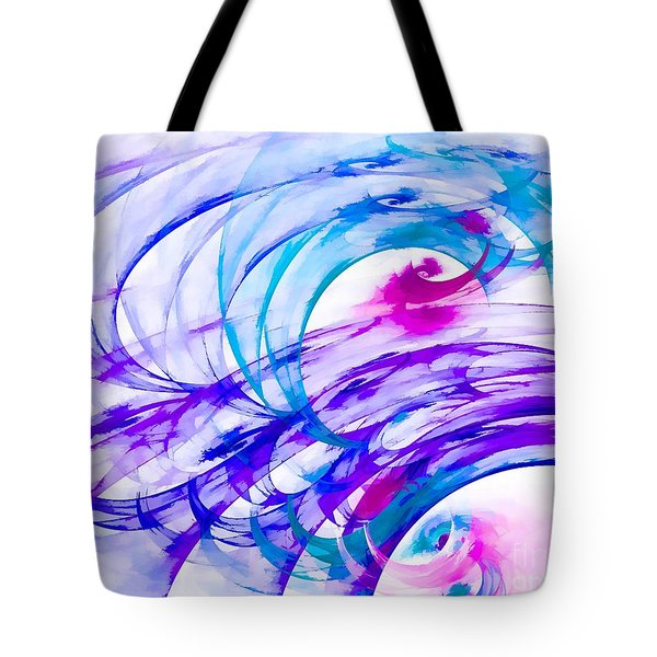 Tropical Breeze Tote Bag by Peggy Hughes
