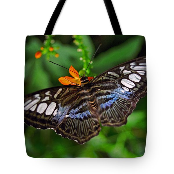 Tote Bag featuring the photograph Tropical Butterfly by Marie Hicks