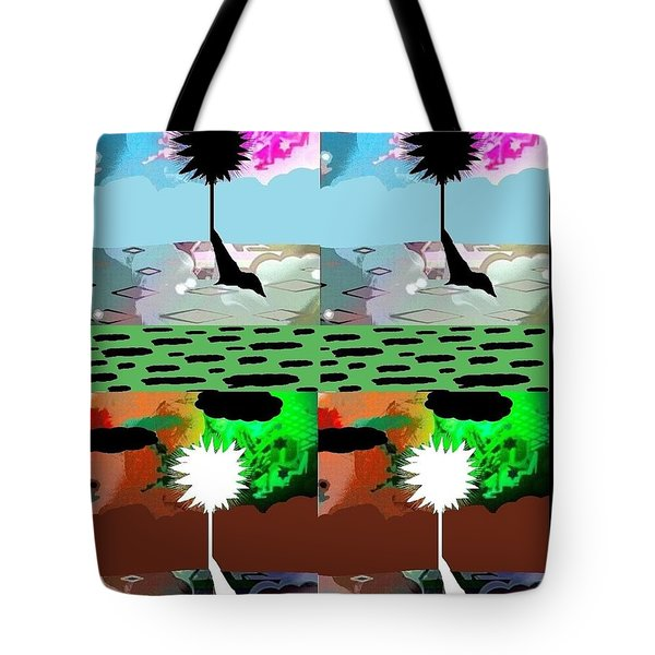 Tote Bag featuring the digital art Tropical Daze 2 by Ann Calvo
