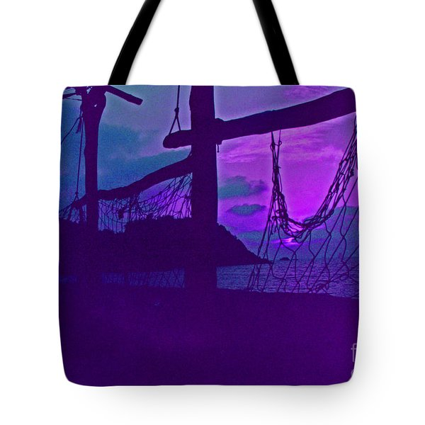 Tropical Dusk Tote Bag by First Star Art