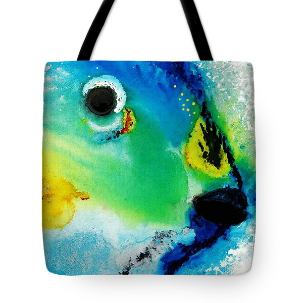 Tropical Fish 2 - Abstract Art By Sharon Cummings Tote Bag