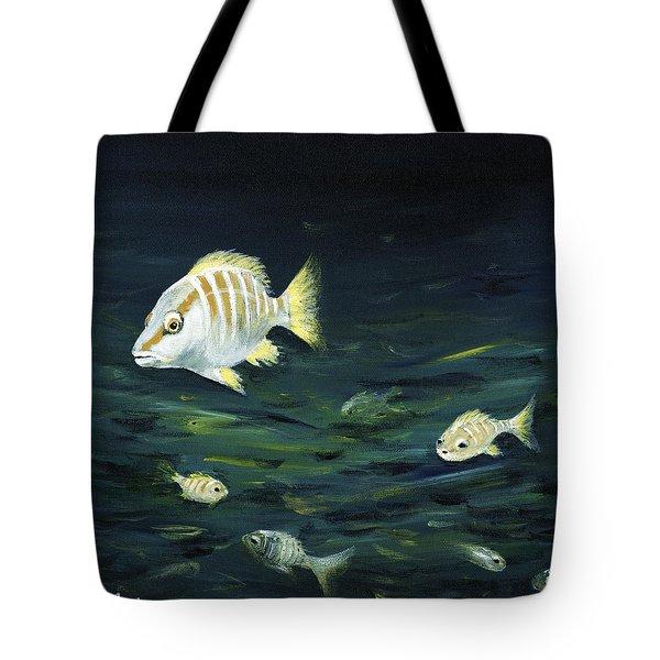 Tropical Fish Tote Bag by Anastasiya Malakhova