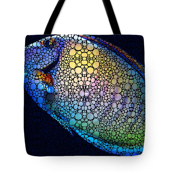 Tropical Fish Art 6 - Painting By Sharon Cummings Tote Bag