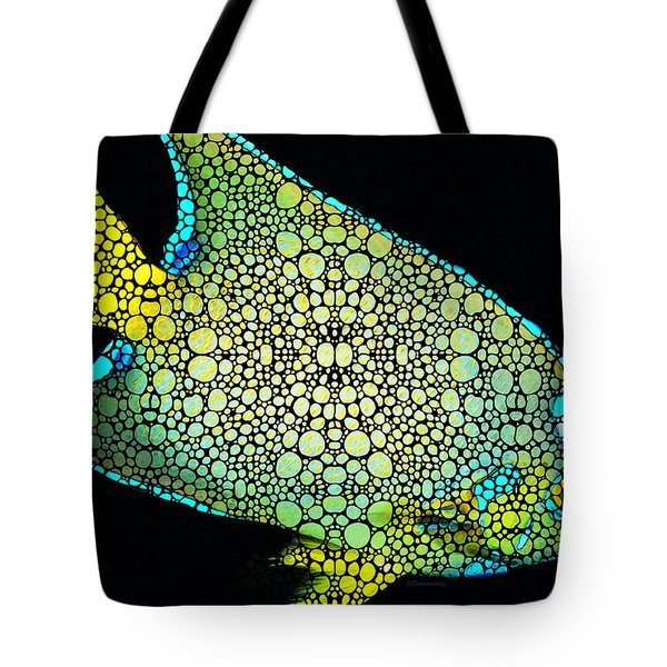 Tropical Fish Art 8 - Abstract Mosaic By Sharon Cummings Tote Bag
