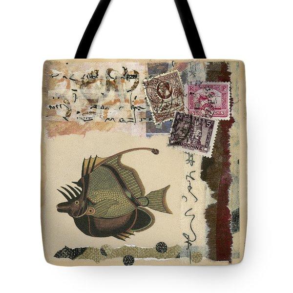 Tropical Fish Collage Tote Bag