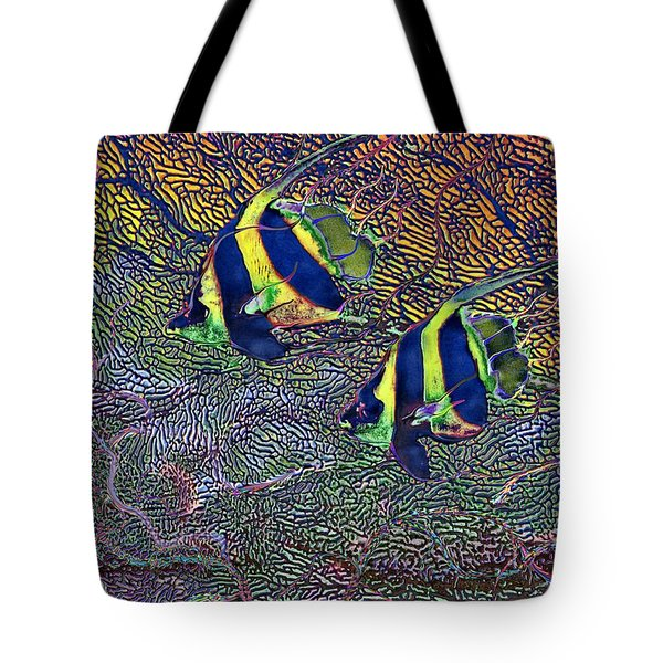 Coral Reef Tropical Fish Colorful Water Art Tote Bag