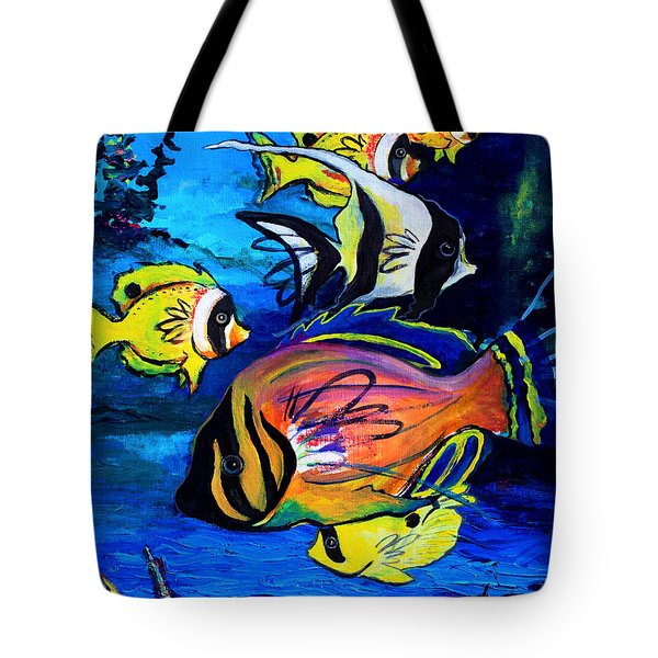 Tropical Fish Tote Bag by Karon Melillo DeVega