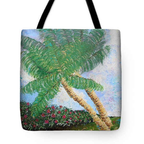 Tote Bag featuring the painting Tropical Flair by Margaret Bobb