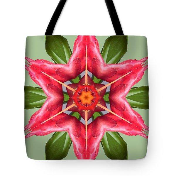 Tropical Flower Mandala Tote Bag